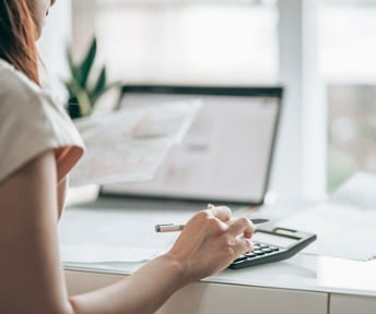 A calculator with Tax 2020 typed in.